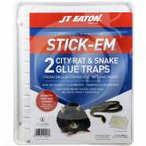 eu jt eaton adhesive plate stick em city rat and snake 2 p - 1, small