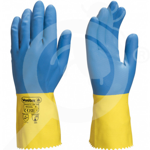 delta plus eldiven caspia chemical resistant latex rubber gloves - 1, small