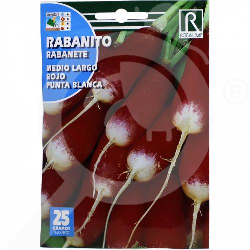 de rocalba seed radish de luna rojo punta blanca 25 g - 0, small