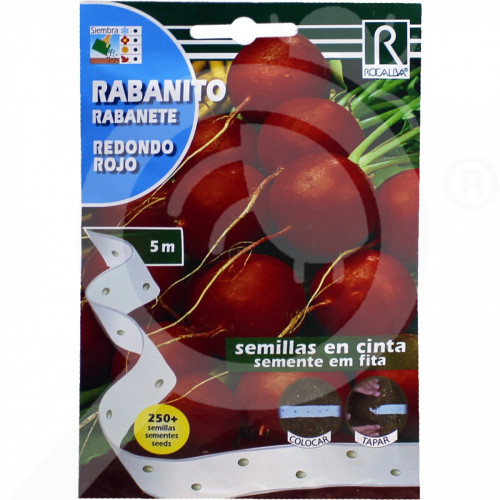 de rocalba seed radish redondo rojo 250 seeds - 1, small