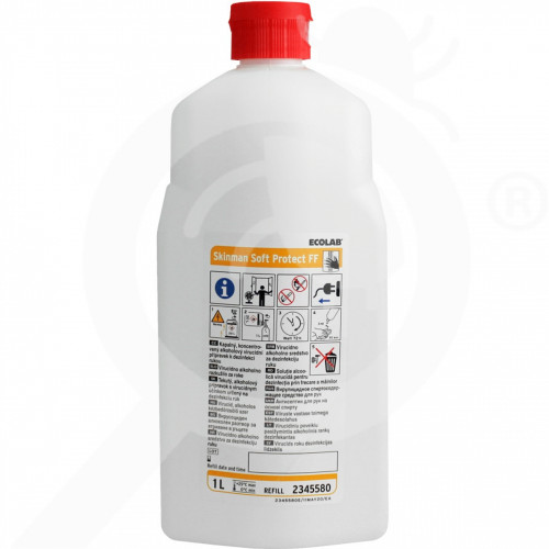 de ecolab disinfectant skinman soft protect ff 1 l - 1, small