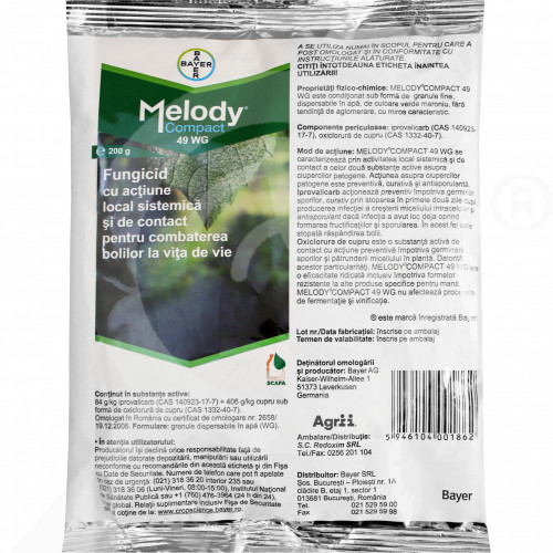 de bayer fungicide melody compact 49 wg 200 g - 1, small
