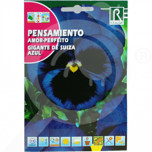 de rocalba seed pansy amor perfeito gigante de suiza azul 0 5 g - 0, small