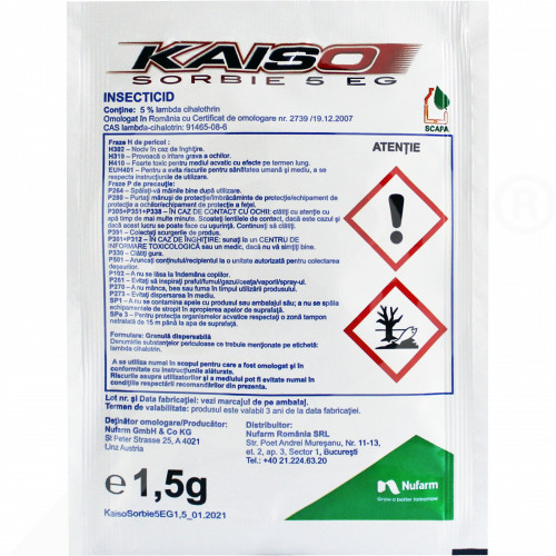 de nufarm insecticide crop kaiso sorbie 5 wg 1 5 g - 1