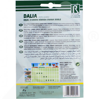 eu rocalba seed dahlia ideal d unwin hibrida enana doble 2 g - 0