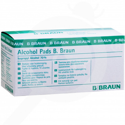 b braun disinfectant alcohol pads 100 box - 2