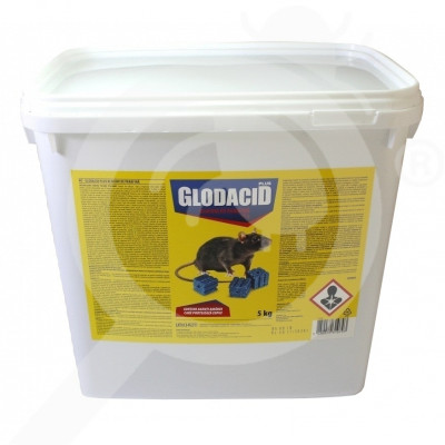 eu unichem rodenticide glodacid plus wax block 5 kg - 1
