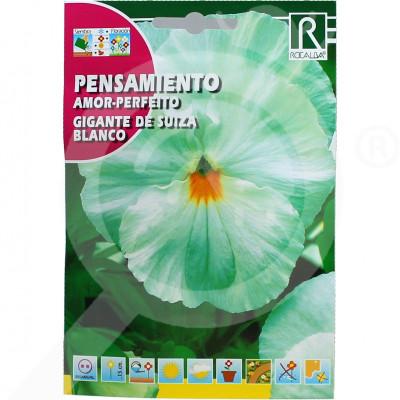 eu rocalba seed pansy amor perfeito gigante de suiza blanco 0 5  - 0