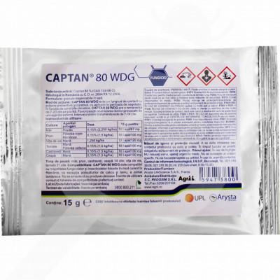 eu arysta lifescience fungicide captan 80 wdg 15 g - 0
