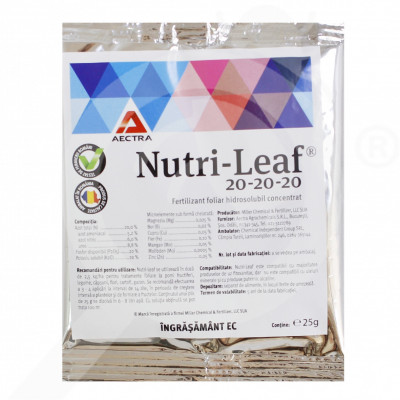 eu miller fertilizer nutri leaf 20 20 20 25 g - 0