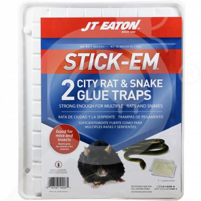 eu jt eaton adhesive plate stick em city rat and snake 2 p - 1