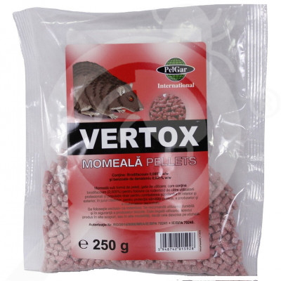 eu pelgar rodenticide vertox pellet 250 g - 1