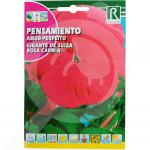 eu rocalba seed pansy amor perfeito gigante de suiza rosa carmin - 0, small