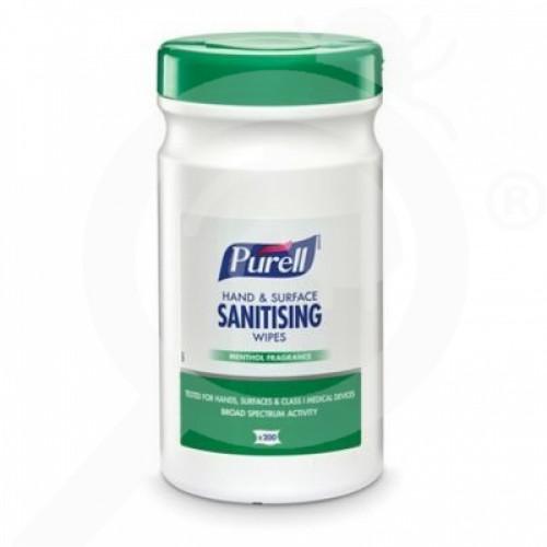 eu gojo disinfectant purell sanitising wipes 200 p - 1, small