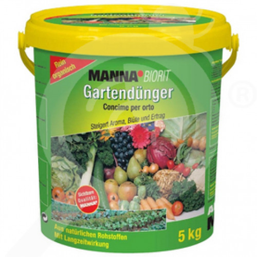 eu hauert fertilizer manna biorit gartendunger npk organic 5 kg - 0, small