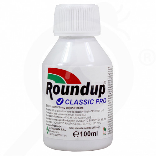 eu monsanto erbicid total roundup classic pro 100 ml - 1, small
