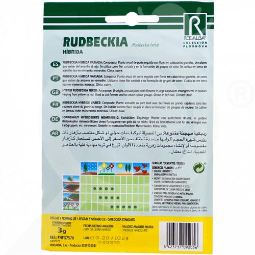 eu rocalba seed rudbeckia hibrida 3 g - 0
