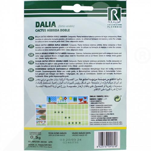 eu rocalba seed dahlia cactus hibrida doble 0 5 g - 0