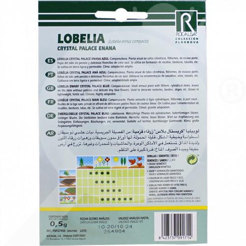 eu rocalba seed lobelia crystal palace enana 0 5 g - 0