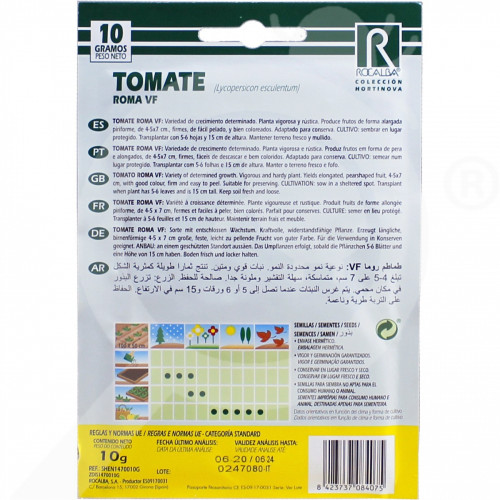 eu rocalba seed tomatoes roma vf 100 g - 0