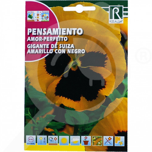 eu rocalba seed pansy amor perfeito de suiza negro 0 5 g - 0
