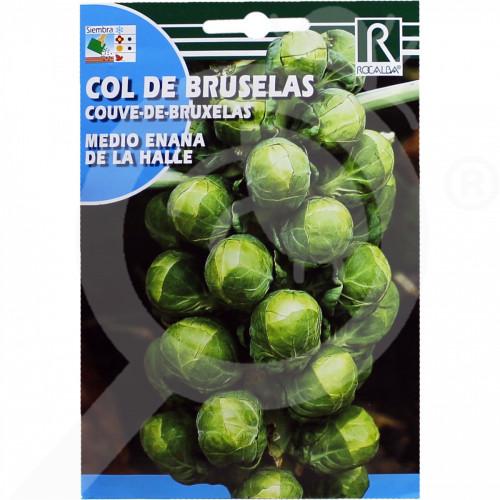 eu rocalba seed brussel sprouts medio enana de la halle 8 g - 0