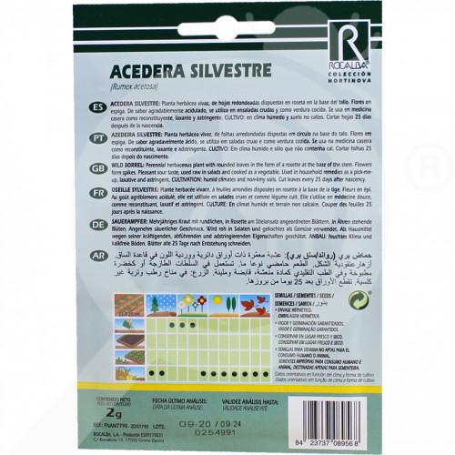eu rocalba seed sorrel azedeira silvestre 2 g - 0