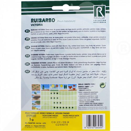 eu rocalba seed rhubarb victoria 100 g - 0