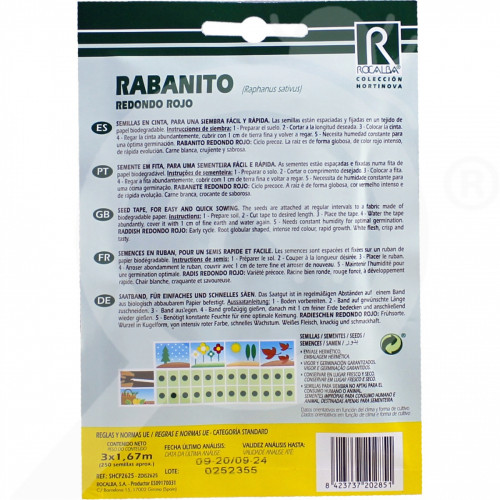 eu rocalba seed radish redondo rojo 250 seeds - 0