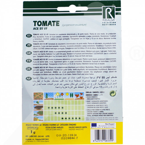 eu rocalba seed tomatoes ace 55 vf 1 g - 0