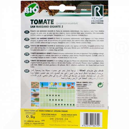 eu rocalba seed tomatoes san marzano gigante 2 0 5 g - 0