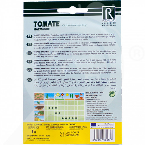 eu rocalba seed tomatoes marmande 1 g - 0