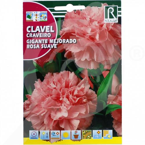 eu rocalba seed carnations gigante mejorado rosa suave 1 g - 0