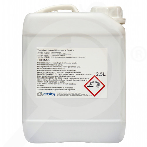 amity international disinfectants virusolve plus 2 5 litres - 2