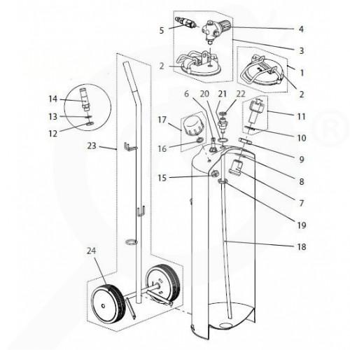 eu birchmeier spare parts gasket set spray matic 20s - 1