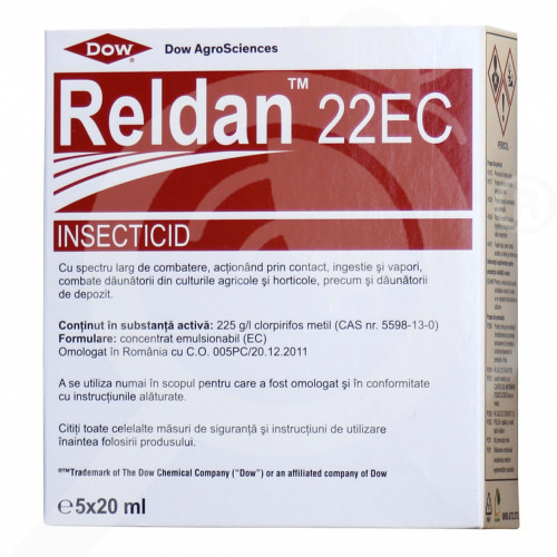 eu dow agro sciences insecticide crops reldan 22 ec 20 ml - 1