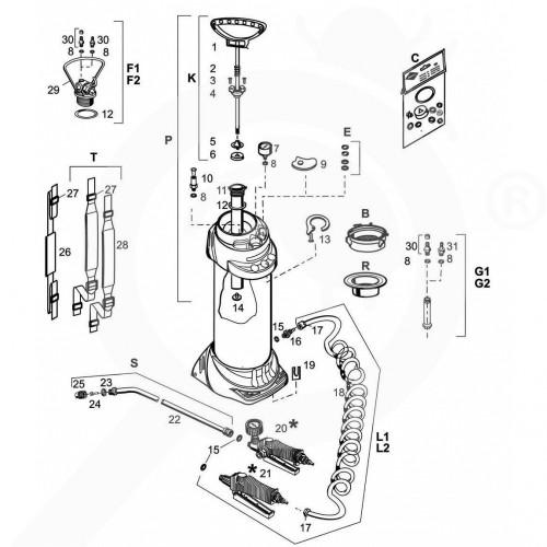 eu mesto accessory 3615g inox gasket set - 3