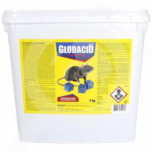 eu unichem rodenticide glodacid plus wax block 5 kg - 1