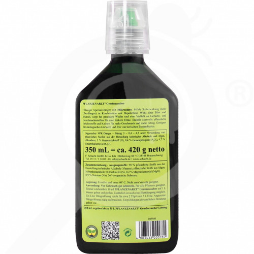 eu schacht fertilizer organic vegetable gemusezauber 350 ml - 1