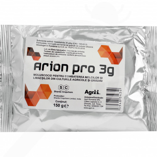 eu sharda cropchem molluscicide arion pro 3g 150 g - 0