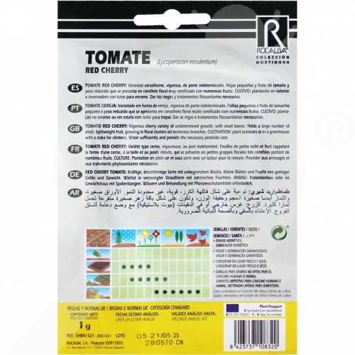 eu rocalba seed tomatoes red cherry 1 g - 0