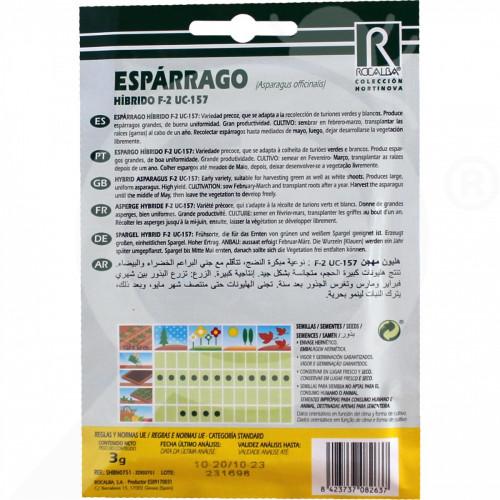 eu rocalba seed asparagus hibrido f2 uc 157 10 g - 0