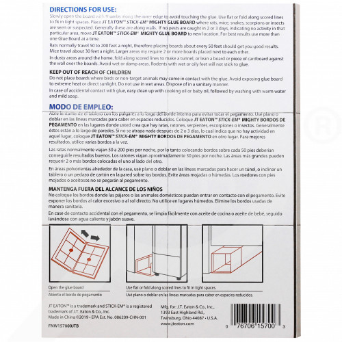 eu jt eaton adhesive plate stick em mighty for rats and mice - 0