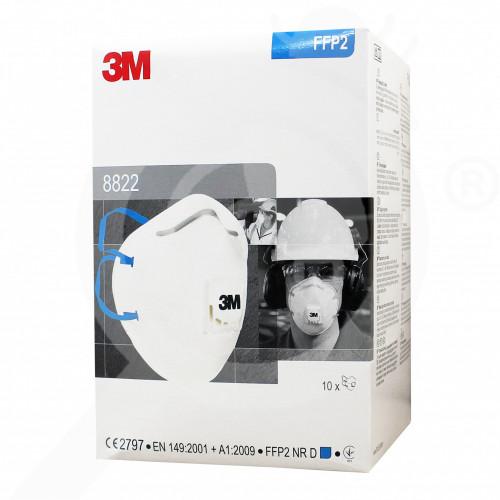 eu 3m safety equipment 8822 semi mask hepa - 0