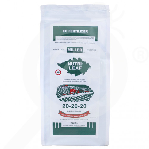 eu miller fertilizer nutri leaf 20 20 20 2 kg - 0