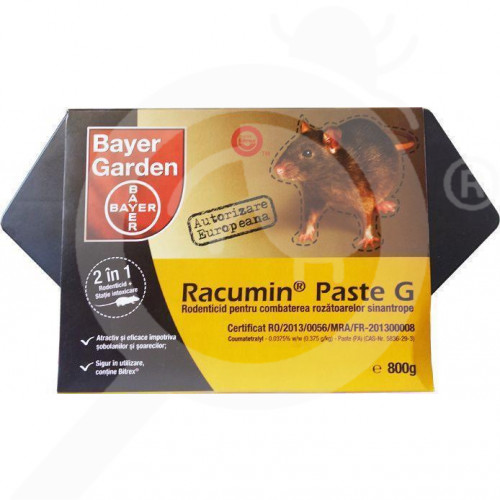 bayer rodenticide racumin paste g 800 g bait station - 3
