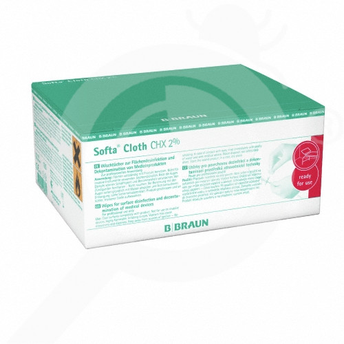 b braun disinfectant softa cloth chx 2 100 box - 2