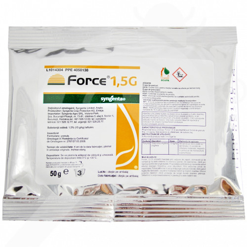 eu syngenta insecticid agro force 1.5 G 50 g - 1