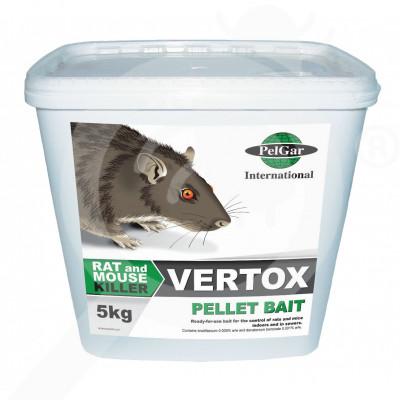 fr pelgar rodenticide vertox pellet 5 kg - 1