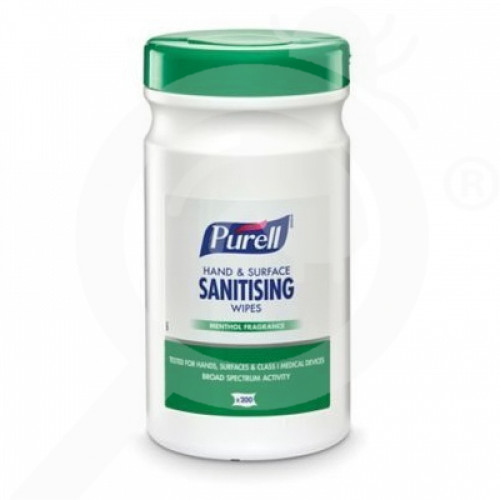 fr gojo disinfectant purell sanitising wipes 200 p - 1, small